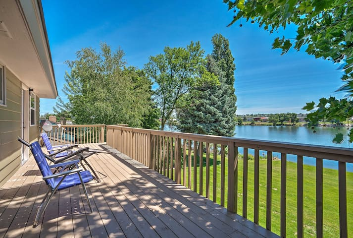 NEW! Moses Lake Home w/Dock, 1 Mi to Surf 'n Slide