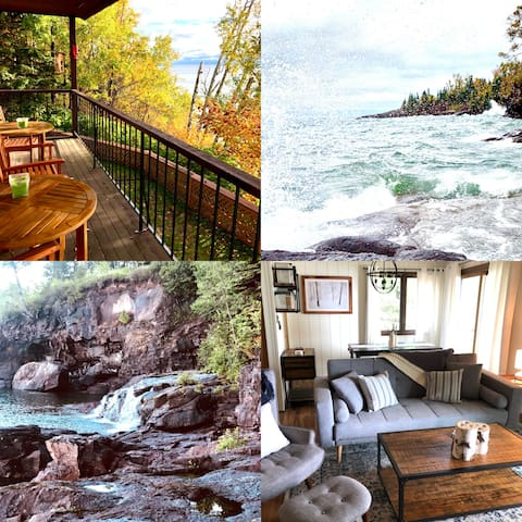 Rustic Chic Condo on Lake Superior Rocky Shores