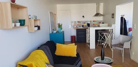 Appartement refait à neuf sur le port d'Arcachon.