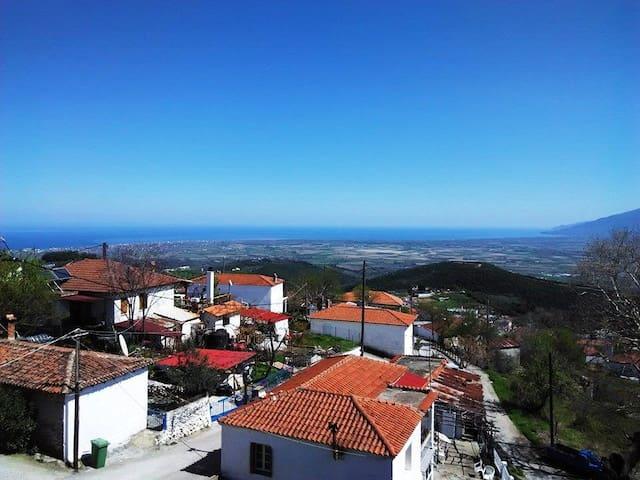 Villa Aigani, Olympus, Spectacular View - Aigani - Casa
