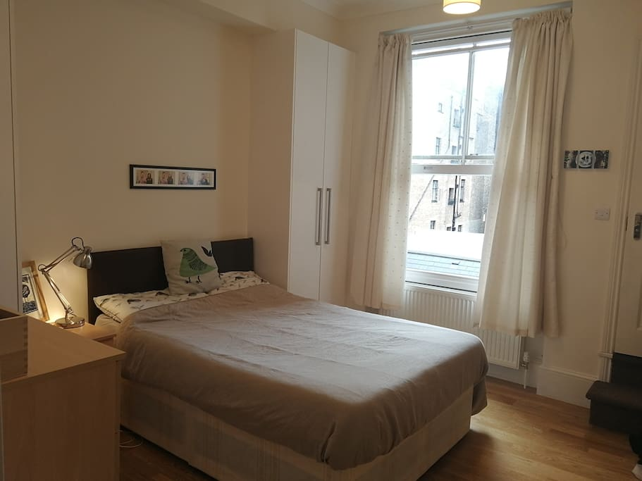 Spacious double bed bedroom