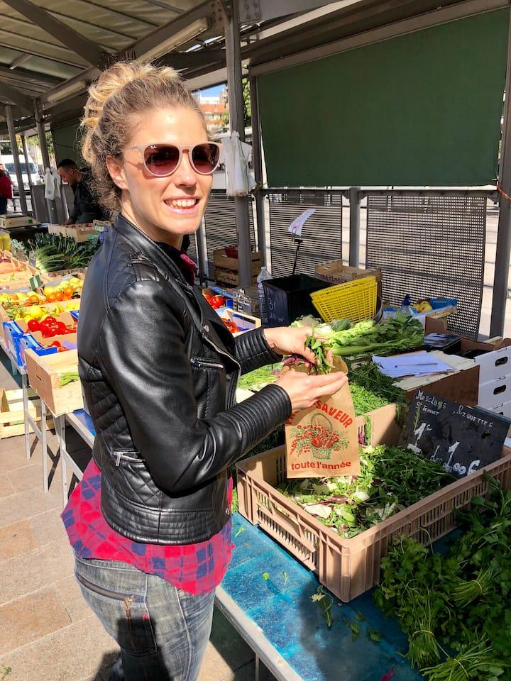 Purchasing mesclun salad like a local!