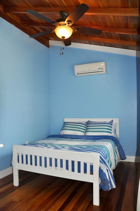 A/C in both bedrooms, with a queen bed