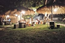 This is part of the villa - Warung(local restaurant). You can sit down and enjoy the atmosphere of garden with bbq