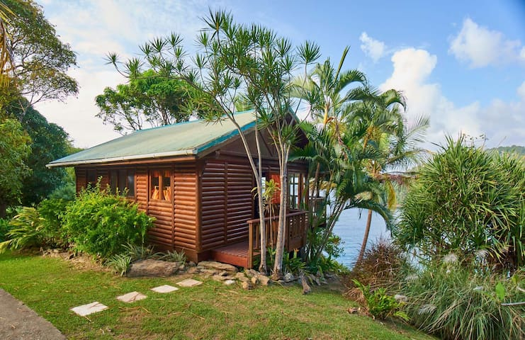 Tobago seaview cottage: private beach, waterfall