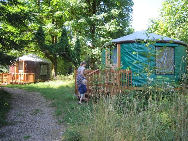 Family Yurt (Heated) @ Zigzag Mountain Farm