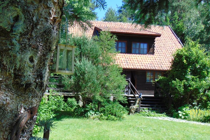 Wooden cottage Masuria region, Wikno, Lake Omulew - nidzicki - Vacation home