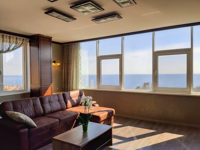 Аркадия. Панорама моря! Апартаменты В СТИЛЕ ЯХТЫ