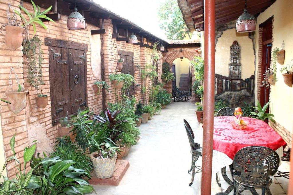 Patio with Interior Garden...