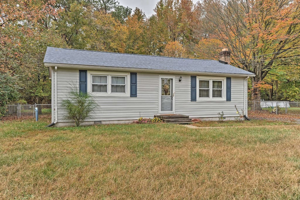 Bring your pets and your best friends and enjoy this home that's nestled in a quiet, wooded neighborhood.