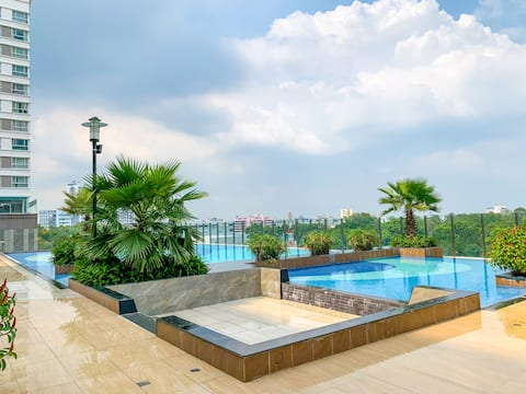 LUX Airport Apartment 1BR-Cozy Studio-POOL,GYM,BBQ