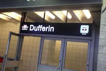 5 minutes away from Dufferin Subway.
