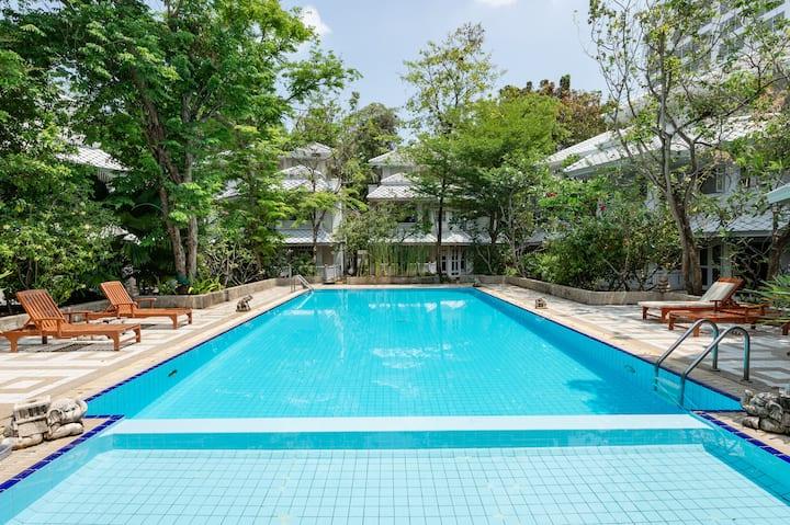 ChaoPhraya River Villa,3mins->Boat station|Free BF