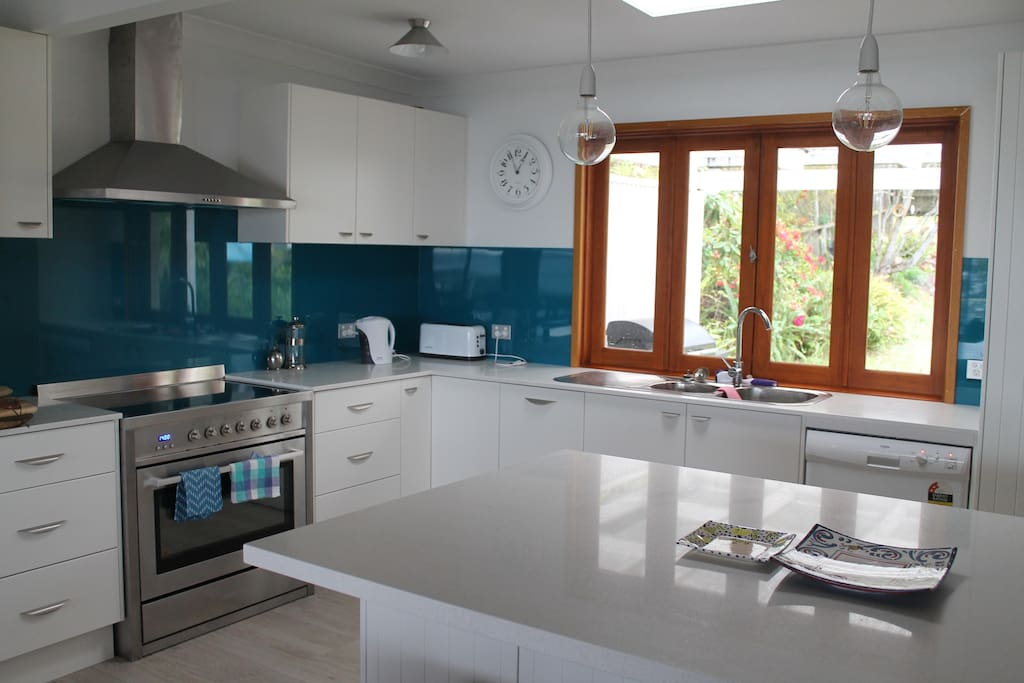 Newly renovated kitchen in an open plan living space