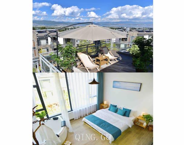 青古 风韵  浴缸阳台大床房,坐落于苍山脚下的艺术家园