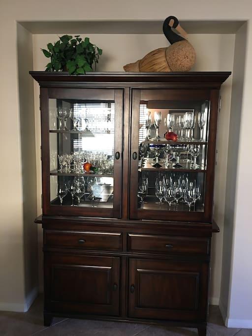 Stemware Cabinet