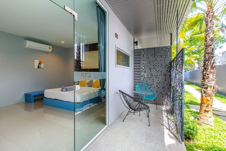 Bangrak Beach Room in a design new boutique hotel.