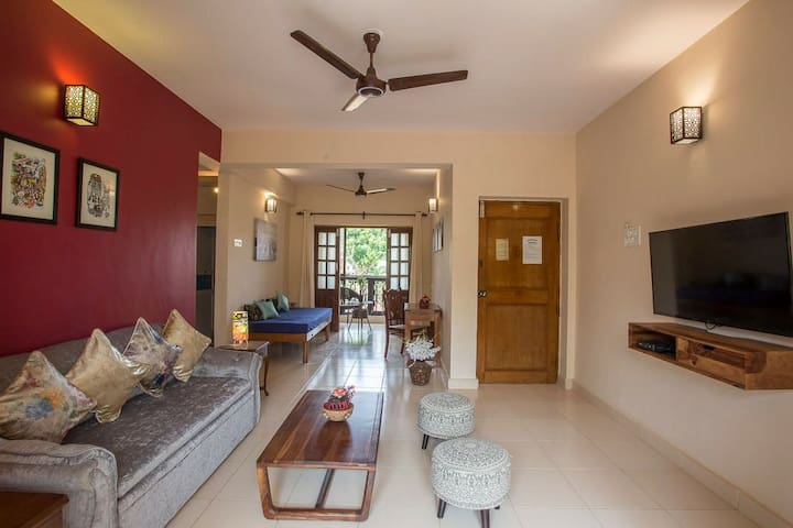 Luxirious and comfortable 2bhk flat at calangute🏝