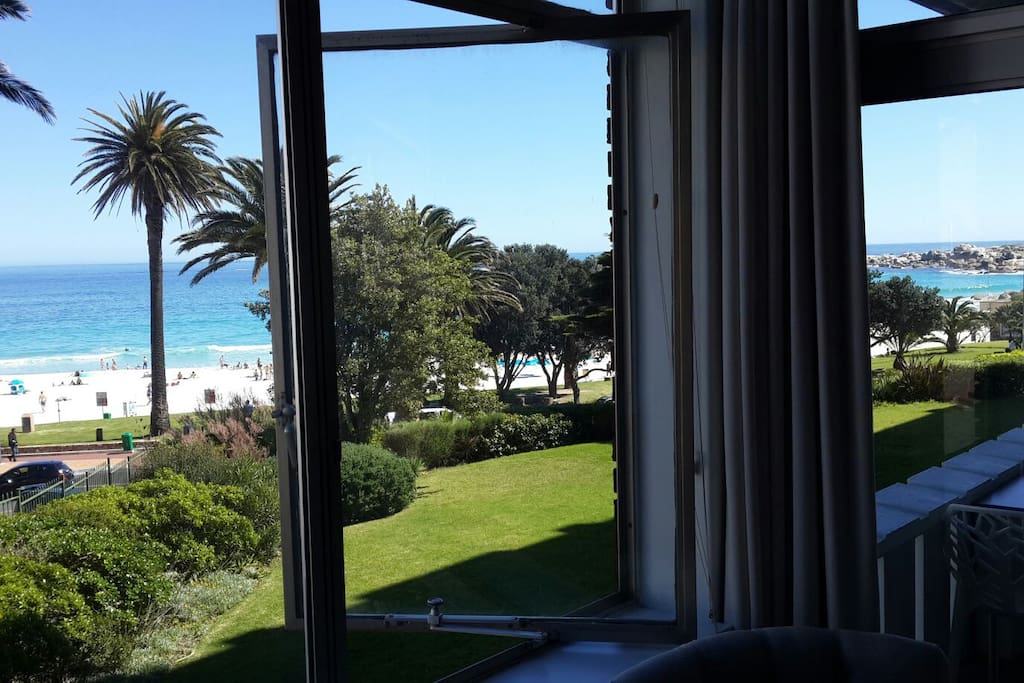 View of beach from the main bedroom