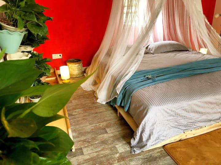 私人安逸别墅大房带私人花园庭院近深圳北站华为private villa room