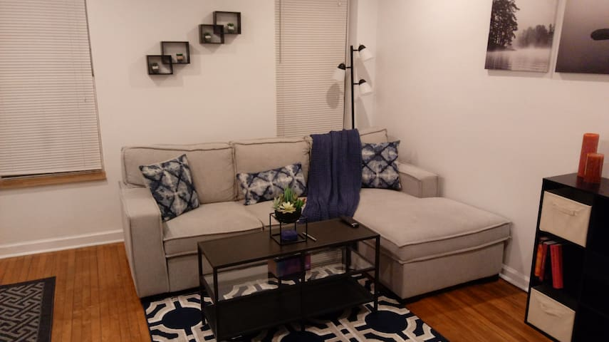 Entire 2-bedroom condo,1 fl, Bucktown, Chicago.