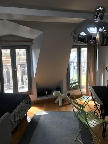 Chambre  dernier étage Paris centre