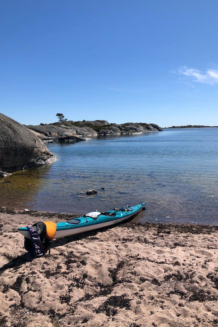 Kayak on Zarah's Beach.