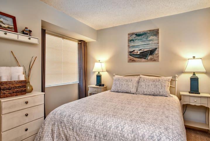 Bedroom #1 with new queen bed