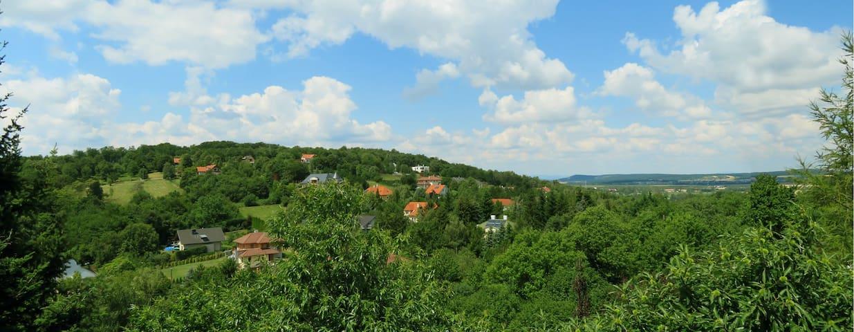 Panorama buhardillas en sur-oeste falda de colina