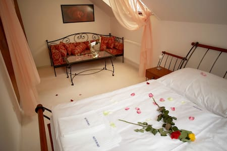 Romantic and luxury bedroom with waterbed