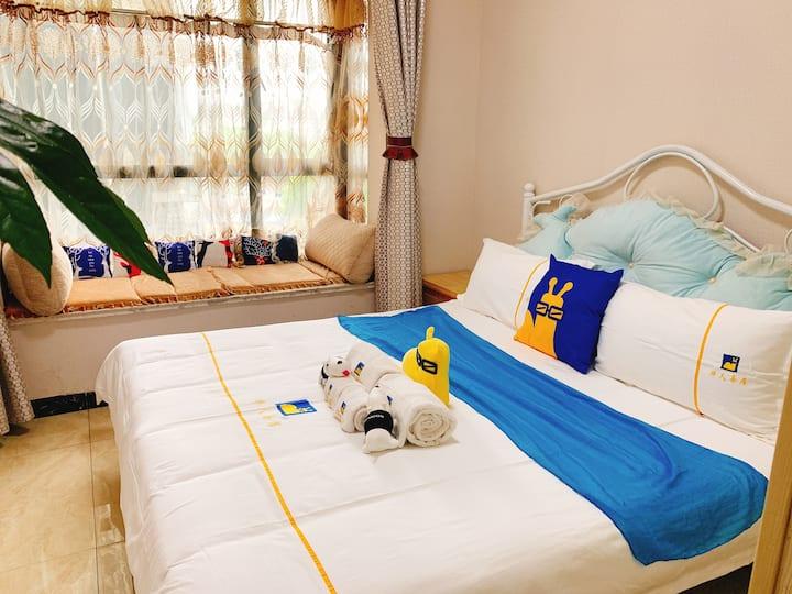 华人易居舞阳坝店(日月星辰)一居室大床房,位于舞阳坝锦华苑小区