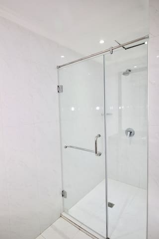 Spacious Standing Shower