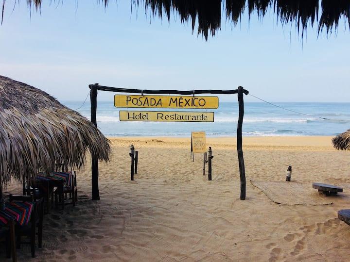 Beautiful cabañas on the beach