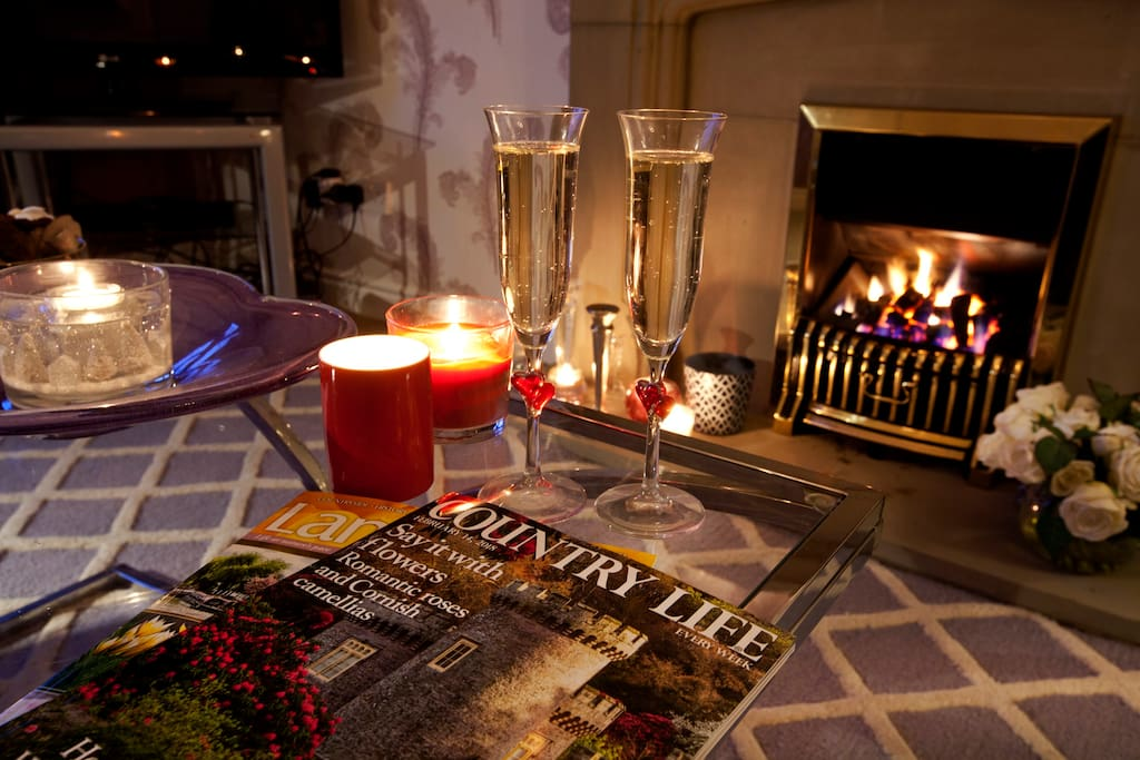 Romantic nights by the fire once the kids are tucked up in bed.