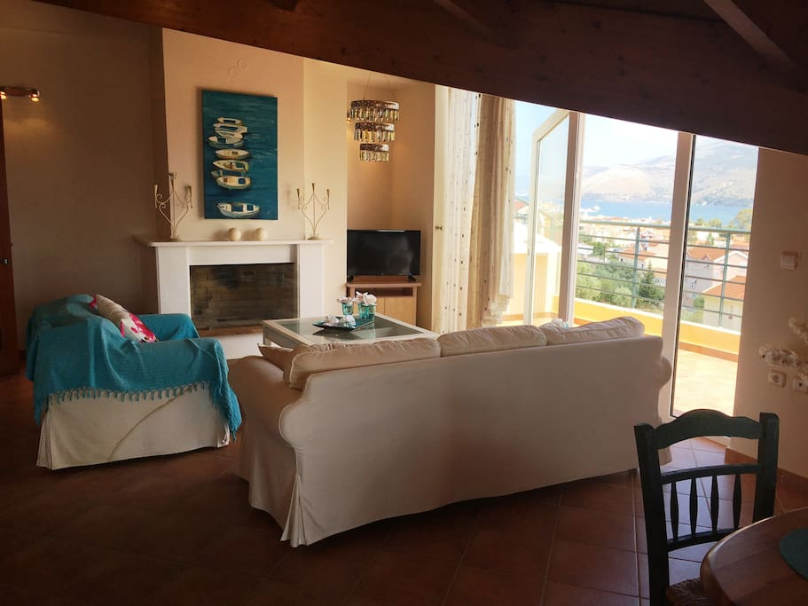 Lay back and enjoy the stunning lagoon view from our Greek island-styled loft.