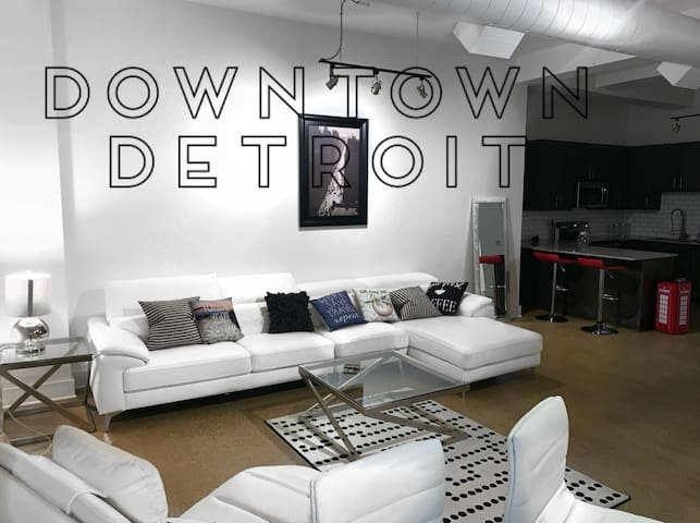 Plush Luxury Loft, in the heart of Downtown Det.