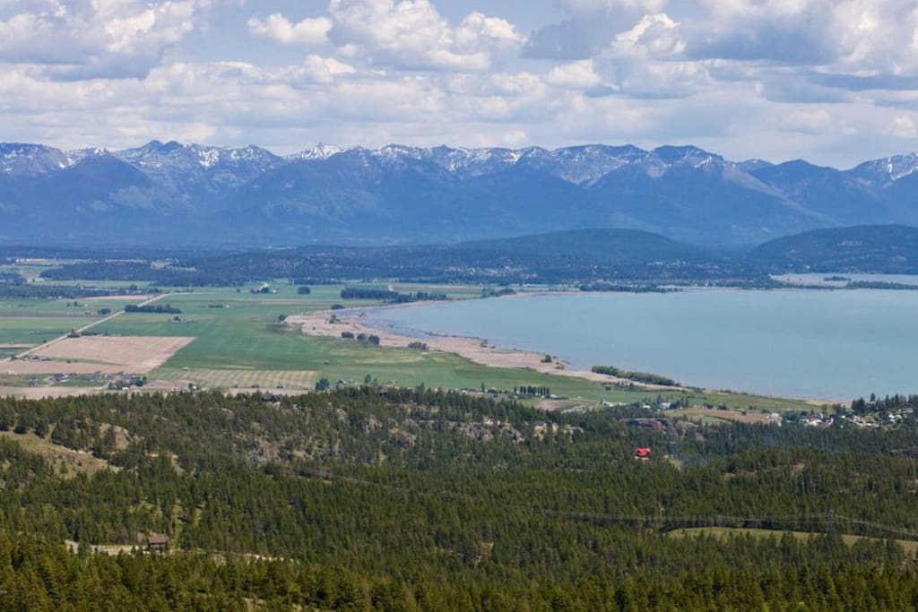 Enjoy the views of Flathead Lake, the Swan Mountains, and Flathead Mountains