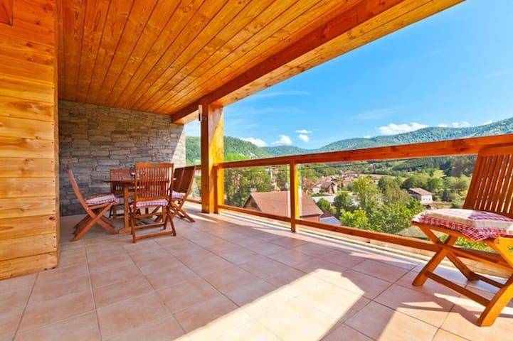 chalet cocooning, 65m² pour 8 personnes avec sauna