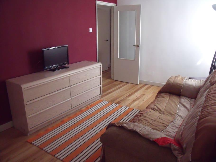 Sala con Tv y 2 sofas