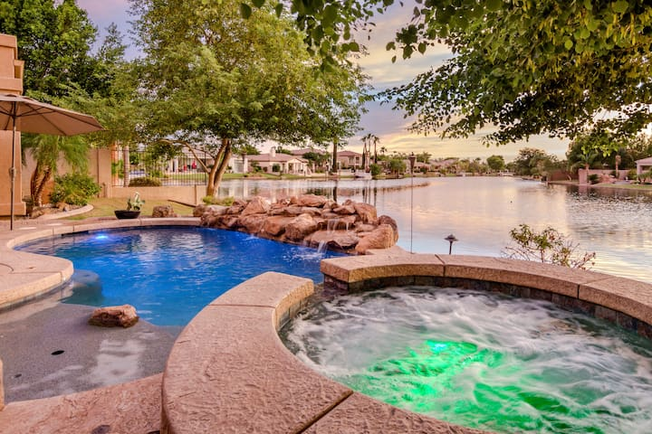 Chandler Lakefront Estate - Heated Pool/Spa