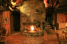 Living/Dining room fireplace