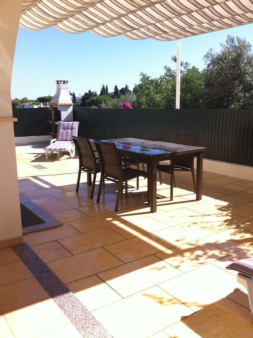 private terrace and barbecue