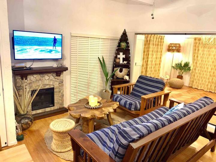 クリーンで安心!暖炉のある一棟貸切ゲストハウス BBQ&Surfing海まで徒歩5分