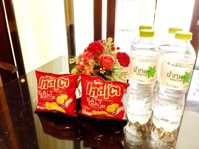 Drinking water and snack, Coffee and Tea are free for you