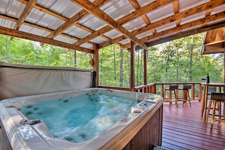 Serene Broken Bow Cabin W Hot Tub Fire Pit Cabins For Rent In Broken Bow Oklahoma United States
