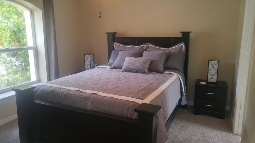 Private access to the third bedroom with ensuite, makes a perfect room for grandparents or older teens
