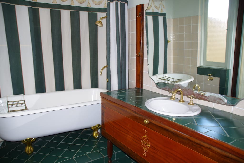 Lovely spacious bathroom with Antique Claw Foot Bath