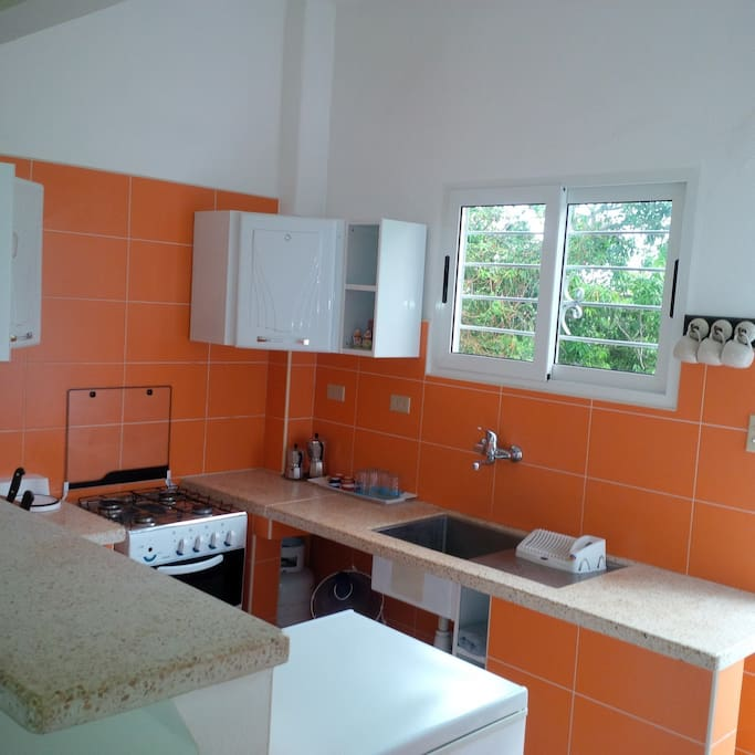 Brand new kitchen in case you feel like preparing a meal. Refrigerator included.
