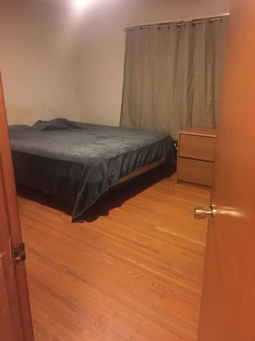 An example of what a Private King Size Bedroom with lock on door with key plus private bathroom will look like.