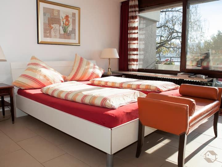 Königsegg mit Hallenschwimmbad Ines Koch, (Reichenau), Ferienwohnung, 40qm, 1 Wohn- / Schlafzimmer, max. 2 Personen